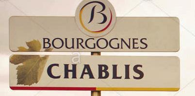 Bourgogne chablis panneau du village bourgogne france m0ertc