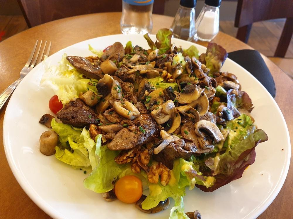 Salade foies de volaille