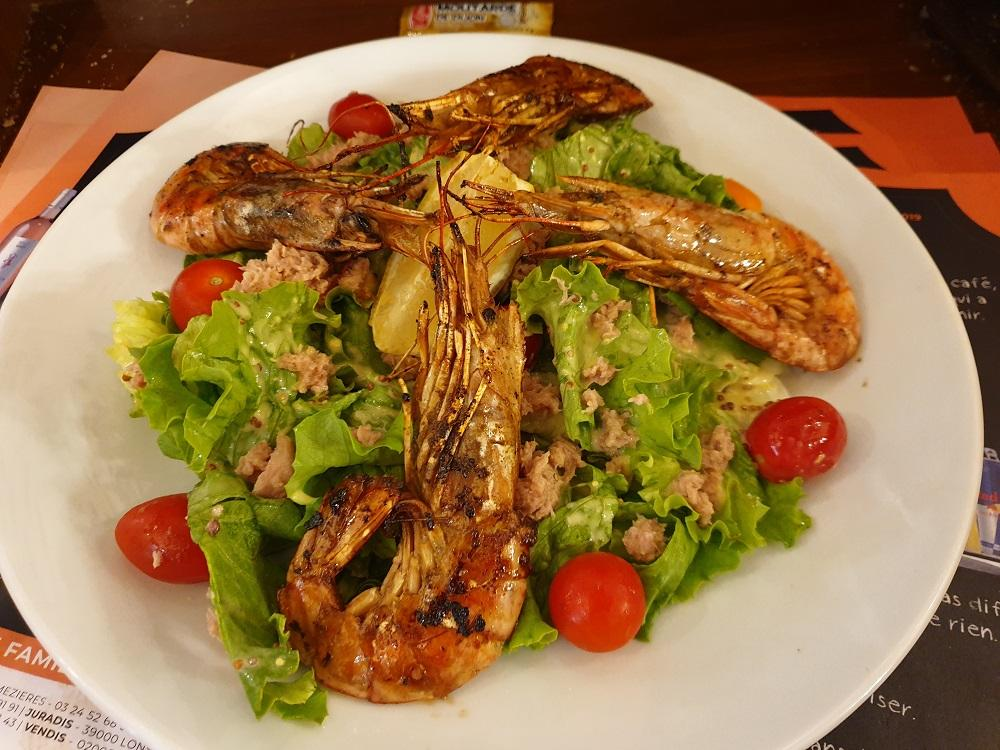 Salade thon et gambas